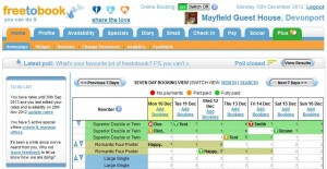 Online booking system with an easy to manage online diary