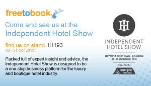 Independent Hotel Show 2013 exhibitor
