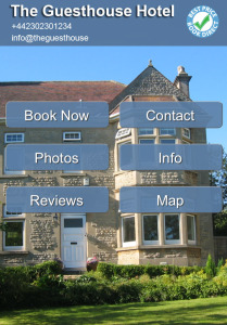mobile website for guest house