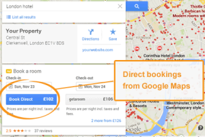 Google Maps Hotel Price Ads