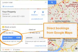 Google Maps Hotel Price Ads