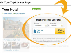 Direct bookings via TripAdvisor