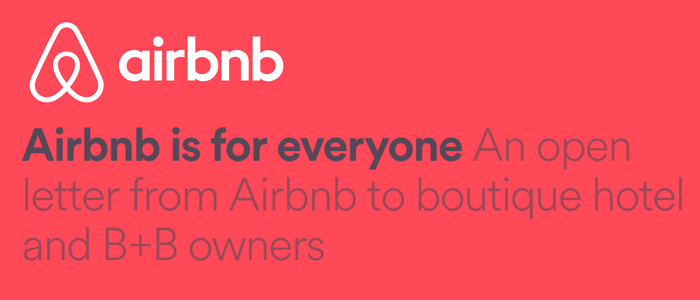 Airbnb connecting to hotels