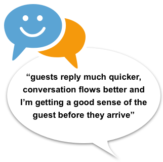 Smart messaging for automatic messaging of guests