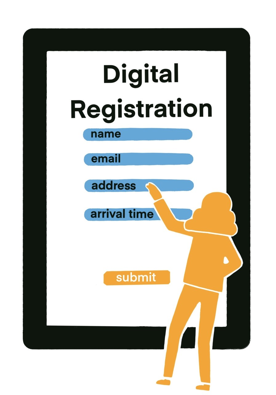 Digital registration for hotels