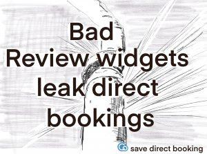 leaking pipe bad review widgets leak direct bookings
